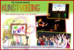 Interactieve kindervoorstelling 'Kunstvoeding / Het raadselrecept van oom Gouache' | Tijl Damen